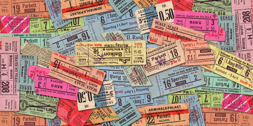 Three creative ways to showcase your tickets.