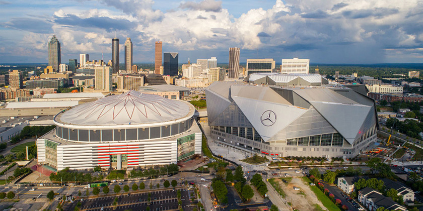 How to get to sports and music venues in atlanta without a car for Mercedes benz stadium will call location