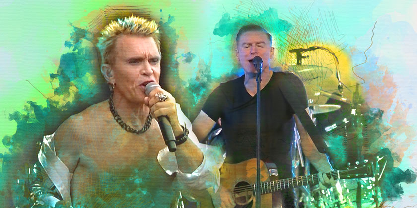 Bryan Adams and Billy Idol 2019